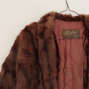 Vintage Mink fur shawl by Ronly